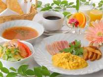 朝食の1例(洋食)