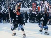 厳冬期(2月)に開催のえんぶりは雪がよく似合います。