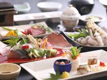 【バル淡道】淡路島の山海の恵みを盛り込んだ懐石料理。美味しいものをその場で調理します。(イメージ)