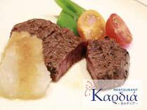 【メインディッシュ】神戸牛ロースのステーキ