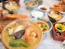 *【ご夕食/一例】佐渡で採れた山菜や魚介など、四季折々の味覚を丁寧に調理いたしました。