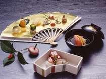 季節感豊かな懐石料理(一例になります)をお楽しみください