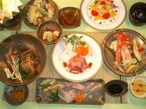 ◆一番人気の特別懐石は地元食材もたっぷり楽しめます!