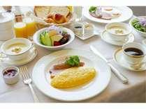 朝食 アメリカンブレックファースト