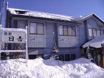 *雪景色を間近に感じる宿