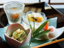 季節の懐石料理 前菜一例