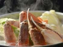 『かにしゃぶ』と『かにすき』から選べる夕食!寒い冬にはお鍋を囲もう!(夕朝食付)
