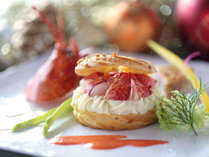 フレンチクリスマスディナー 魚料理一例