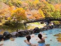 【秋】『湯治屋』(自炊部)混浴露天風呂《大沢の湯》》