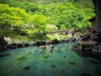 【初夏】『湯治屋』(自炊部)混浴露天風呂《大沢の湯》