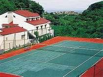 テニスコートは無料で!大自然の中でスポーツを満喫