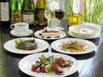 自家製ハーブ使用の欧風料理(一例)、子供食もあり