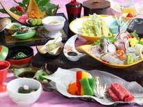 【4月からの夕食】スタンダードコース。相模灘で水揚げされた新鮮なお魚や、ブランド肉『相州牛』など