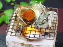 ◇オプション料理◇サザエの壷焼き、600円。ご宿泊日の3日前までにご予約下さい。