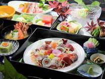 【部屋食プラン】新鮮な地魚と国産牛メインの和食膳(クチコミ評価4.7)をお部屋でご堪能ください