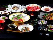 【部屋食】新鮮な地魚と国産牛メインの和食膳をお部屋にご用意!カップルにもおすすめ♪