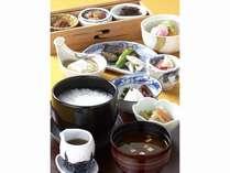 「山里」朝の和食膳ご飯定食・朝粥定食・薬膳粥定食の中からお選びください