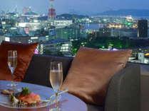 夜景イメージ★博多湾を面したお部屋から博多の街並をお楽しみください
