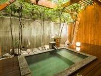 客室露天風呂をリニューアル工事致しました。