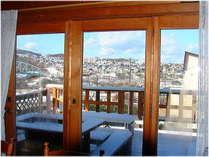 食堂からの雪景色