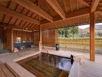 *露天風呂/上牧温泉周辺を一望できる貸切露天風呂「ホタルの湯」