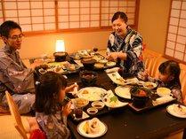 【和膳スタイル・お部屋食例】※家族水入らずで周囲を気にせず、ご夕食をお楽しみください
