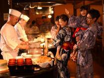 【かまどダイニング「おむすび庵」】※かまど料理や石釜料理が食べ放題のハーフバイキング