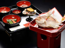 調理長 佐々木による愛隣館特製「お食い初め膳」でお祝いください,