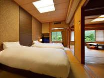 客室「花かんむり 二間ベッド付(禁煙)」※寝心地も評判な禁煙ルームです.
