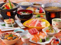 花巻産 白金豚のをメイン料理にした「和膳スタイル」※写真は秋期間・竹膳、イメージとなります