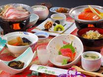 花巻産 白金豚のをメイン料理にした「和膳スタイル」※写真は冬期間・竹膳、イメージとなります
