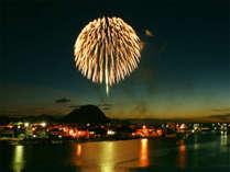 【8月】日本海大花火大会/萩夏まつりの盛大な花火大会は雁嶋別荘からお楽しみいただけます。