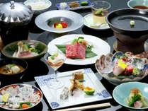 一番人気の基本和会席。日本海の幸を中心とした、旬の味覚をご堪能下さい(イメージ)。