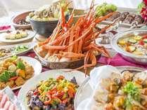 蟹食べ放題バイキングは3月31日まで!!
