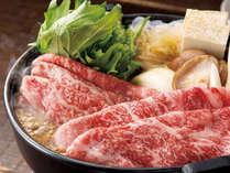 *但馬牛のすき焼き(一例) 厳選したお肉と自家製野菜出作るすき焼きは格別!