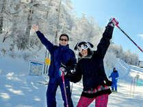 *志賀高原各スキー場へ無料送迎サービスあり♪(お車5~25分)志賀高原の絶景とスキースノボを大満喫!