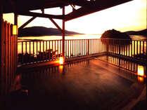 夕日の見える露天風呂