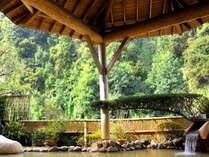 渓流沿いの露天風呂「流泉の湯」~贅沢に、にごり褐色の源泉を100%掛け流し~