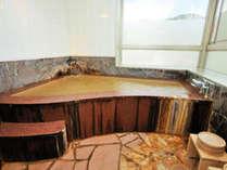 【片栗】展望風呂付客室~客室専用内湯の展望風呂※源泉掛け流しの温泉です