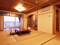 ◆オーシャンビュー客室◆伊勢湾に沈む夕日を眺めながらゆったりと過ごす時間は至福のひととき☆+゜