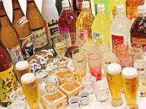 20種類以上のアルコールが楽しめる【プレミアム飲み放題】がお夕食時に楽しめます!