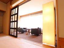 リニューアル済みの和室12帖。広縁スペースも快適にお過ごし頂けます。