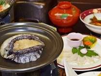 【アワビのバター焼き付き会席】(1)