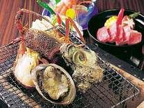 【炭火焼会席】(1) 島根の旬の食材を炭火焼で楽しめる