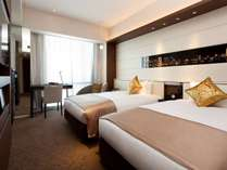 ツインルーム 24㎡(ベッド幅115cm×2台)