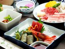 スタンダード夕食◆地魚中心のお造り一例