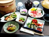 スタンダード夕食◆地魚中心の日替わりの夕食の一例です。