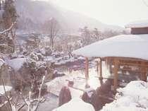 ■火あかりの湯■庭園大露天風呂(雪見 朝)