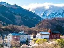 ■松乃井外観■春の季節