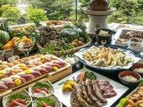 ■和ダイニングビュッフェ■稀少!天然本鮪寿司&極選牛ステーキ&揚げたて天ぷらなどなど食べ放題♪